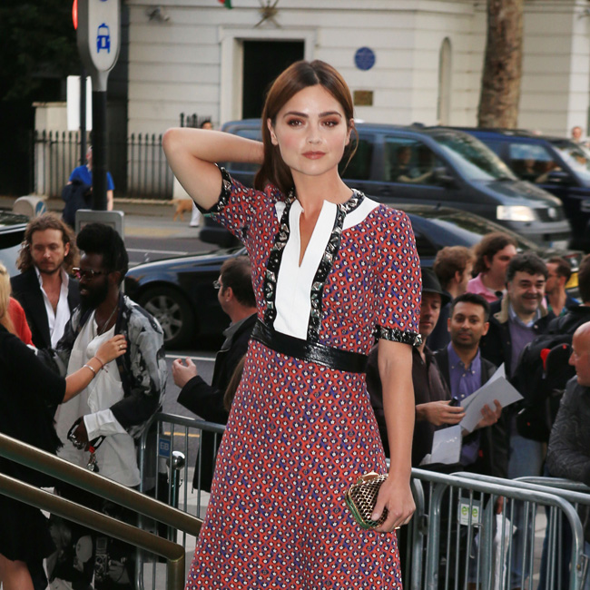 Victoria and Albert Museum Summer Party, London, UK Pictured: Jenna Coleman Ref: SPL1307153 230616 Picture by: Elliot / Splash News Splash News and Pictures Los Angeles: 310-821-2666 New York: 212-619-2666 London: 870-934-2666 photodesk@splashnews.com